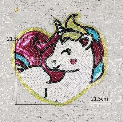 Unicorn Sequin Patch DIY Accessories