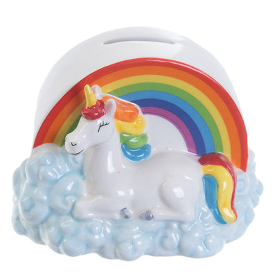Unicorn Rainbow Cloud Money Box