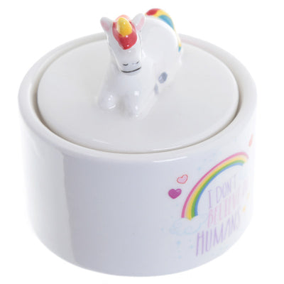 Rainbow Unicorn Ceramic Jewellery Box