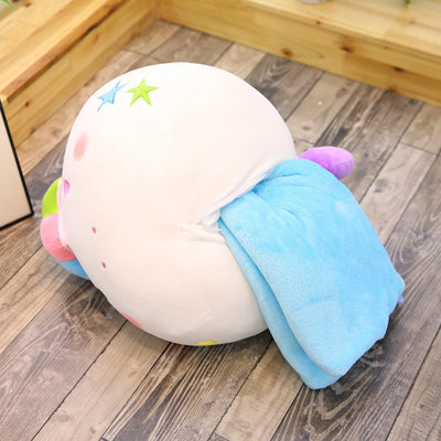 Fat Unicorn Pillow With Blanket Inside
