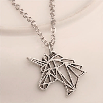 Unicorn Origami Necklace