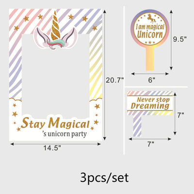 Unicorn Party Photo Frame Supplies