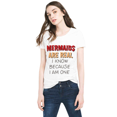 MERMAIDS ARE REAL Letter T-shirt