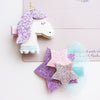 Handmade Glitter Cute Unicorn Star Hair Clip