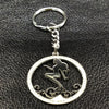 Silver Mermaid Crystal Keychain