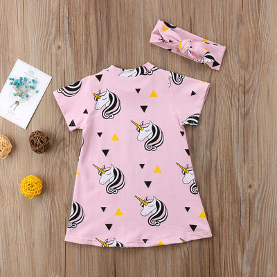 Unicorn Toddler Girl Summer Dress