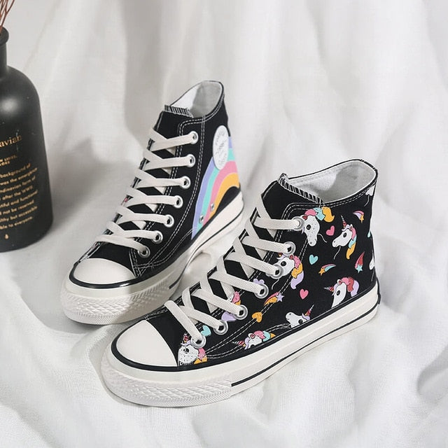230bd731ab Rainbow Unicorn Canvas Shoes (High Tops & Low Tops)