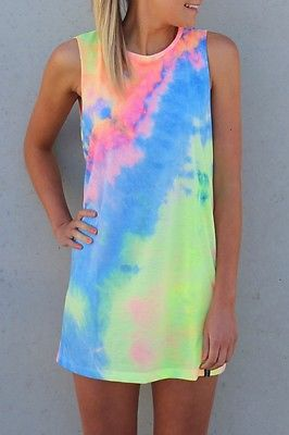 Tie-Dye Mini Dress