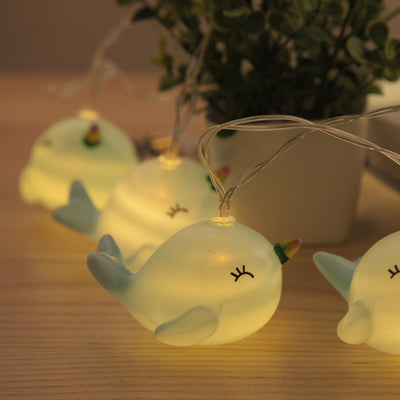 Narwhal Unicorn String Lights