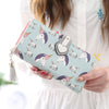 Unicorn Lady Leather Clutch