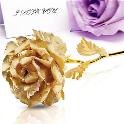 24CM Handcrafted 24k Gold Foil Rose Flower - Well Pick Review