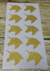 500pcs/lot Unicorn Gold glitter sticker label - Well Pick Review