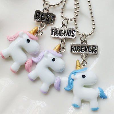 Best Friends Forever Unicorn Necklace Set Well Pick