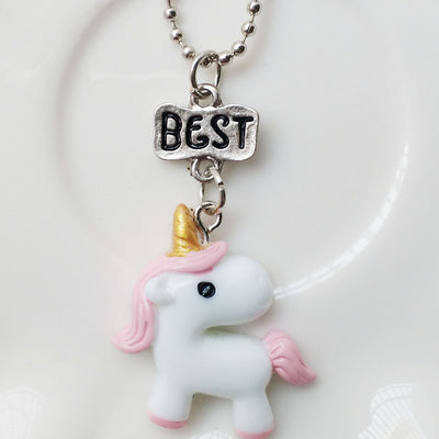 """Best Friends Forever"" Unicorn Necklace Set - Well Pick Review"
