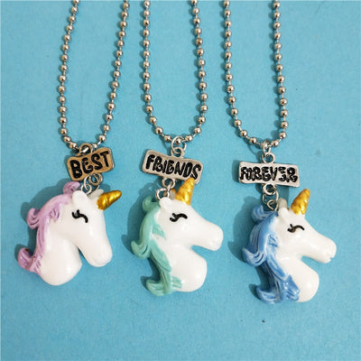 Whale/Unicorn Best Friends Necklace