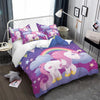 Rainbow Unicorn Purple Bedding Set