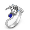 Majestic Unicorn Lady Ring