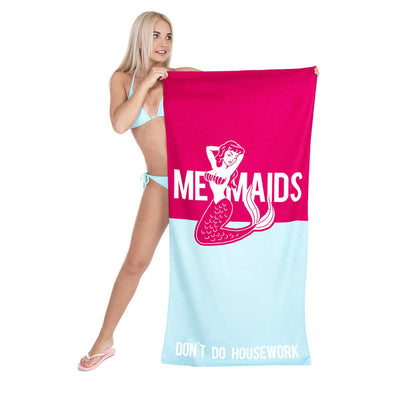 """MERMAIDS DON'T DO HOUSEWORK"" Beach Blanket - Well Pick Review"