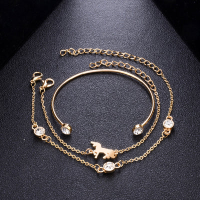 Unicorn Alloy Bracelet Set