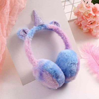 Warm Unicorn Glitter Horn Earmuffs