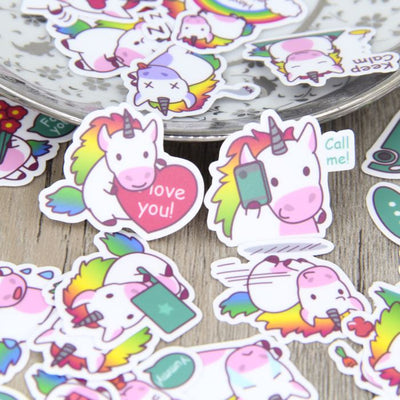 40pcs DIY Colorful Unicorn Stickers - Well Pick Review