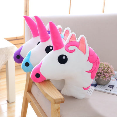 Unicorn Head Throw Pillows