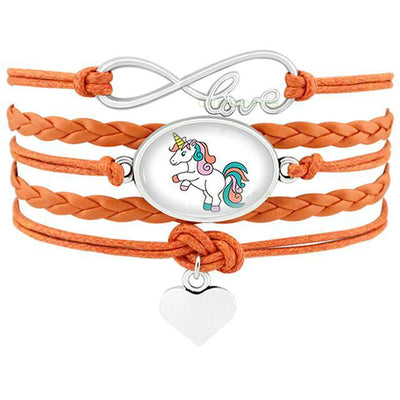 Free - Unicorn Love Leather Bracelets