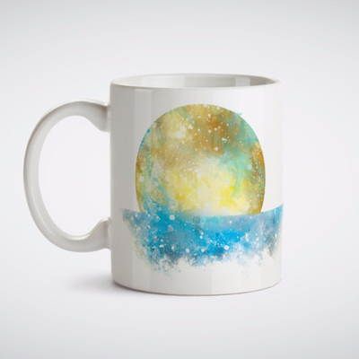 Mermaid in Sea Painting Mug