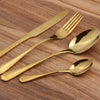 Iridescent Black Gold Rose Gold Stainless Steel Cutlery Set