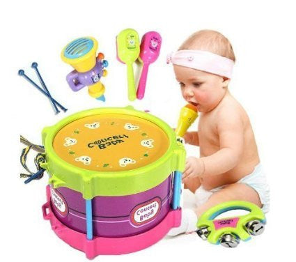 5pcs Fun Baby Band Instruments Toys Gift Set