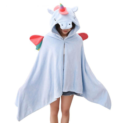 Unicorn Plush Toy Hooded Robe