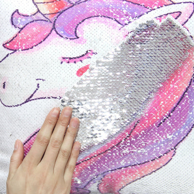 Unicorn Lady™ Sequins Pillow Cover