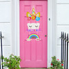 "Unicorn ""Come Inside"" Door Hanging"