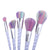 5-10pcs Unicorn Rainbow Makeup Brushes Set