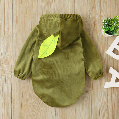 Warm Winter Avocado Baby Romper