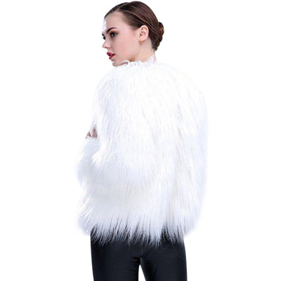 Rainbow LED Faux Fur Coat