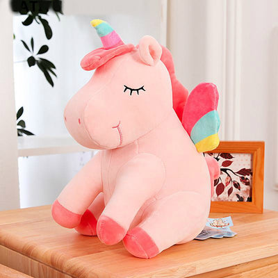 Rainbow-Style Unicorn Plush Toys