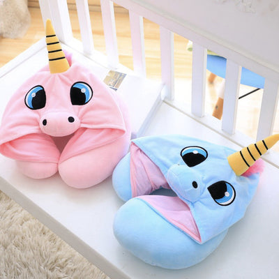 Blue Pink Unicorn Travel Cushion - Well Pick Review