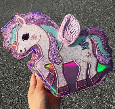 Pony Sequin Shoulder Bag