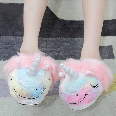 Colorful Unicorn Plush Slippers - Well Pick Review