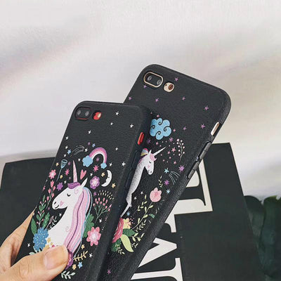 Unicorn Black iPhone Case