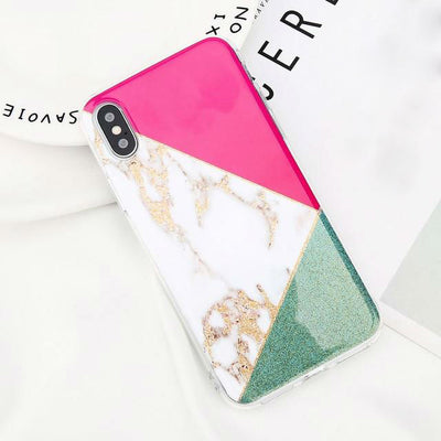 Glitter Marble Silicone iPhone Case