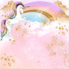 Gold-Stars Rainbow Unicorn Photography Background