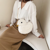 White Plush Duck Shoulder Bag