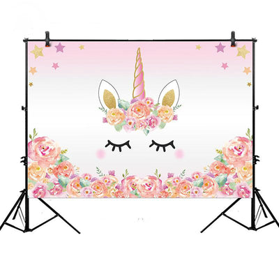 Pink Unicorn Photography Backdrop