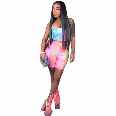Rainbow Tie Dye Clothing Set