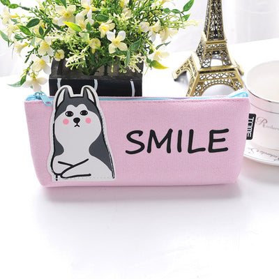 Unicorn & Animal Canvas Pencil Bag