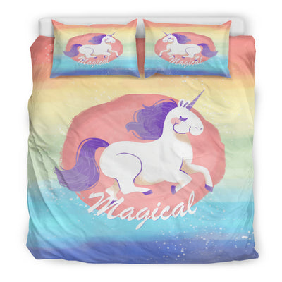 Purple Hair Unicorn Bedding Set