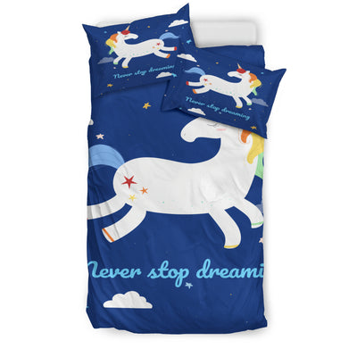 Unicorn Never Stops Dreaming Bedding Set