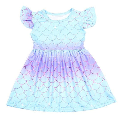 Girls Mermaid Summer Dress